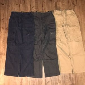 3 pairs of cargo pants